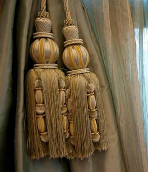 Pin By Debbie Orcutt On Tassels Fringe Curtain Tie Backs Tassels Ana Rosa