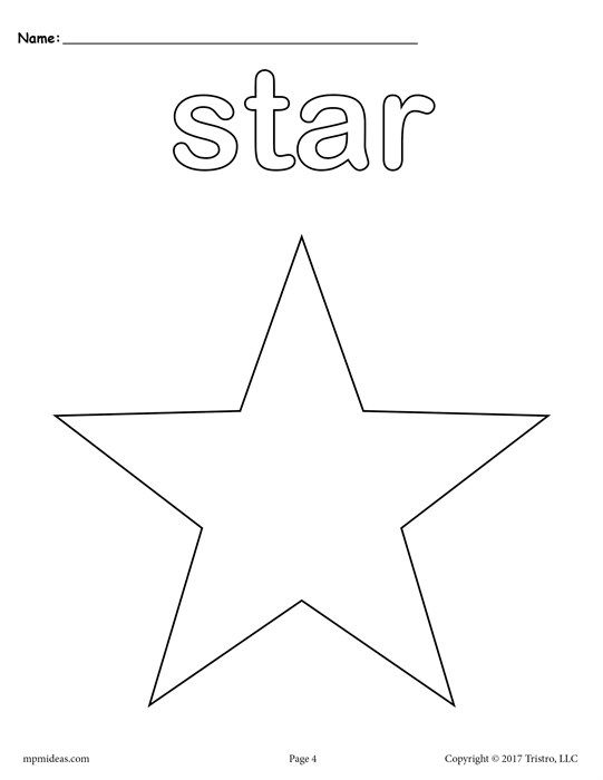 FREE Star Coloring Page   Free printable
