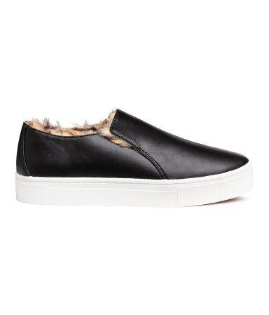 Size 9.5 or 10. Black. Slip-on shoes
