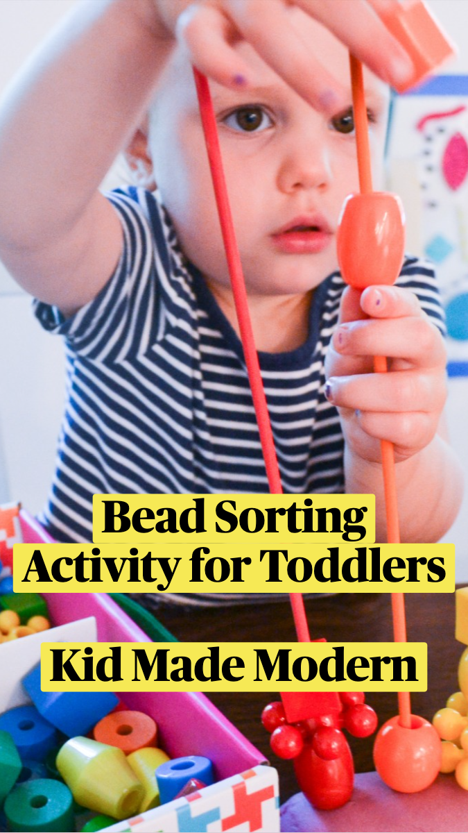 Colorful Bead Sorting Activity for Toddlers