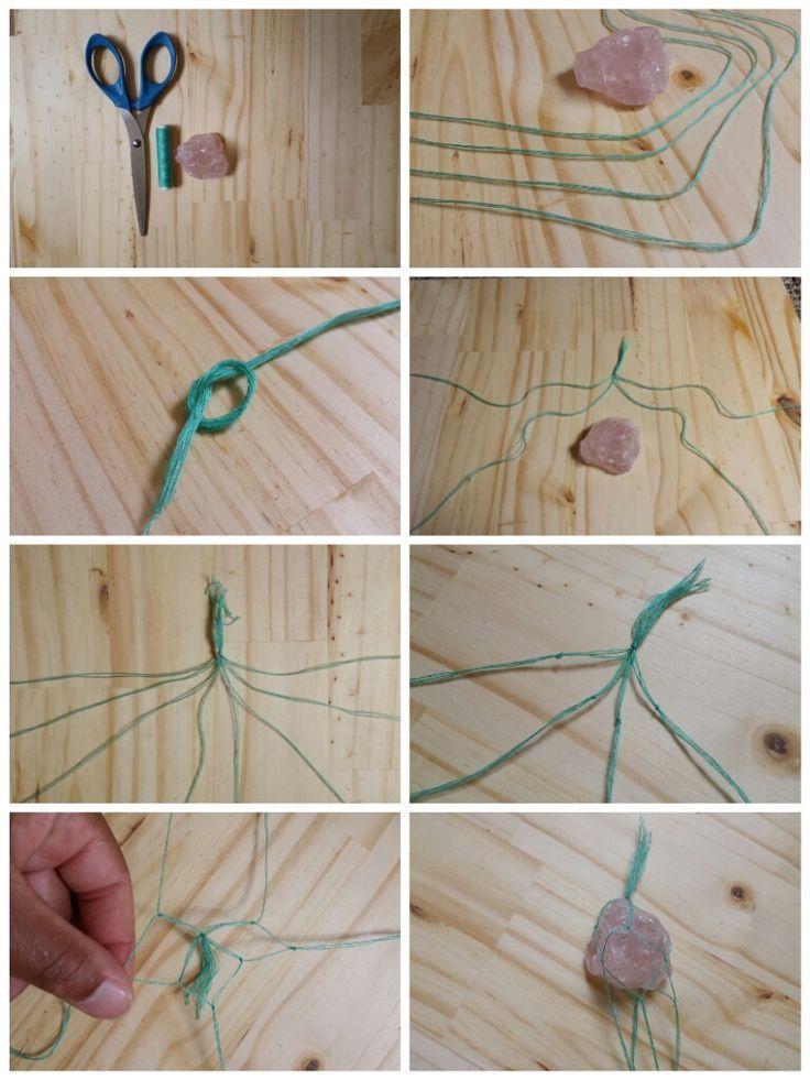 Photo of DIY macrame stone necklace steps #macrame # stone necklace steps