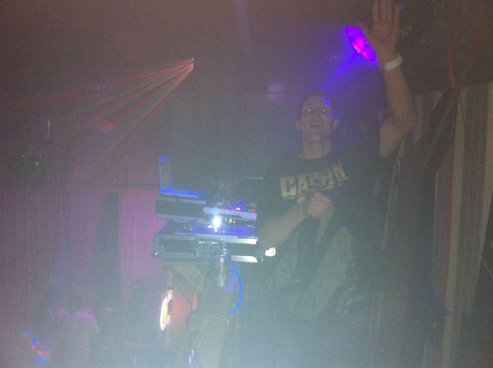 DJ booth up top of Festa Solstizio de'Estate