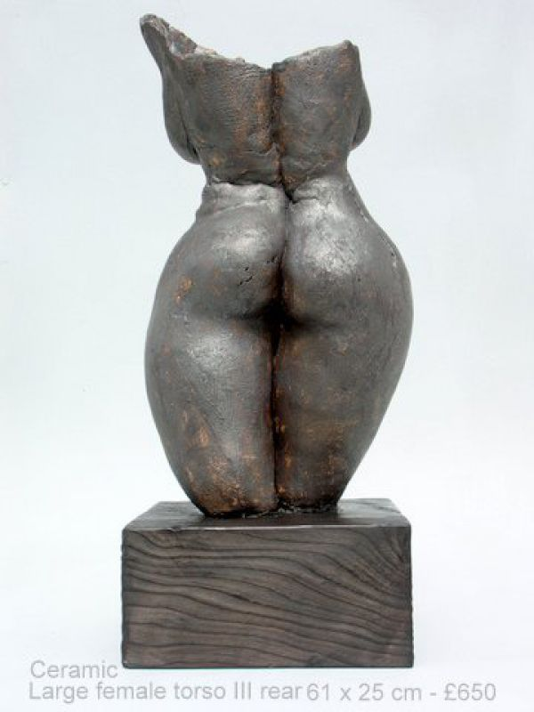 Ceramic Sculptures of females by artist Jenny Eaton titled