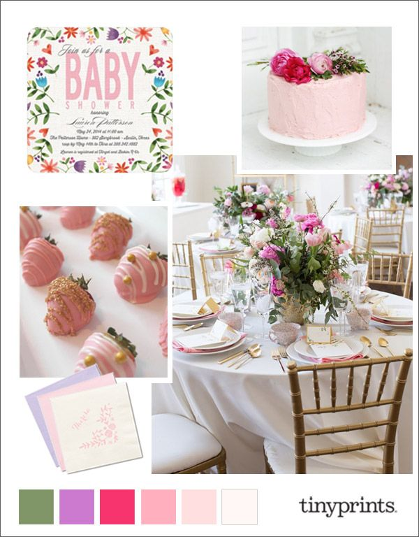 Floral and Girly Baby Shower Ideas