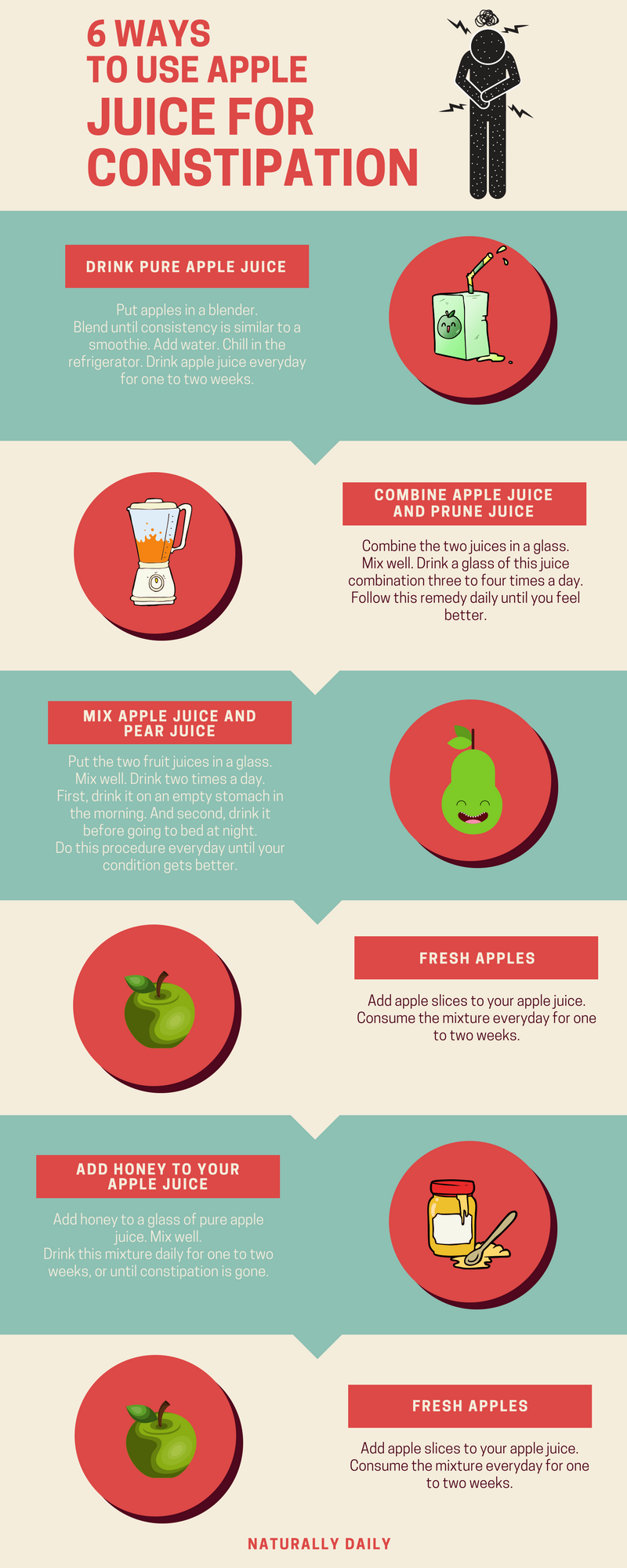 how to use apple juice for constipation relief   foods needed to