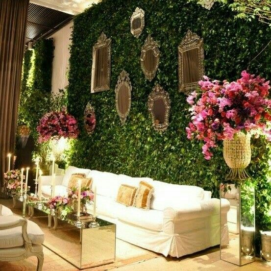 Beautiful wedding reception lounge