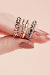 24 einzigartige Black Diamond Verlobungsringe – Nail Art – #Black #diamond #e …