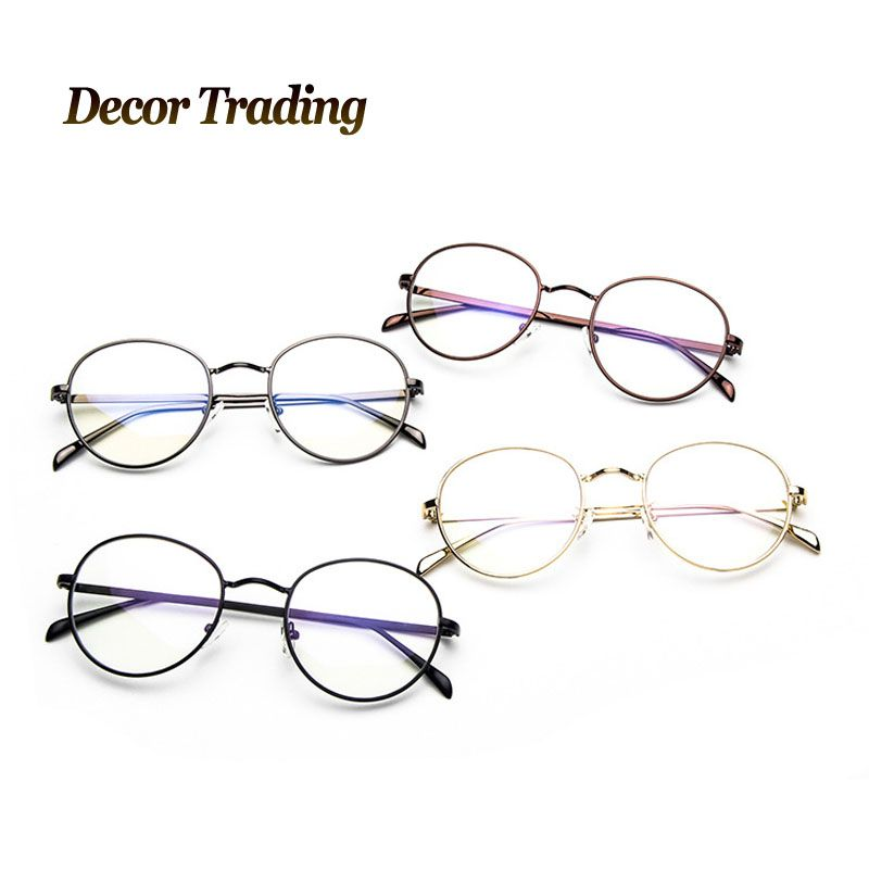 Click to Buy << 2017 New Fashion Metal Round Glasses Frame Brand ...