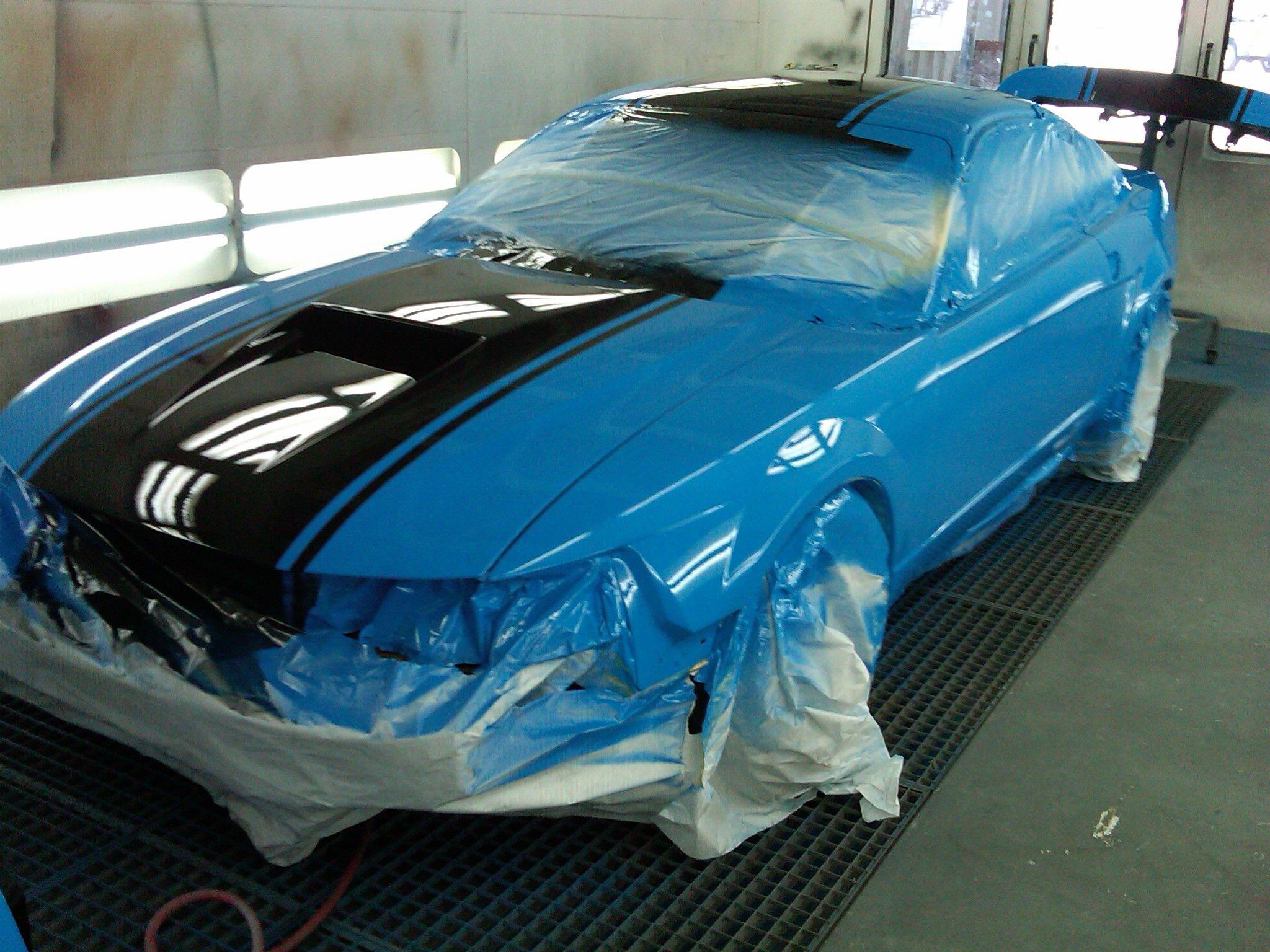 Grabber Blue New Edge Freshly Painted Blue Mustang Mustang Cars Cars Near Me