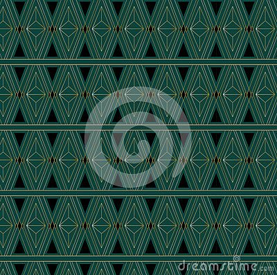 Art Deco Triangle Pattern Royalty Free Stock Image Image