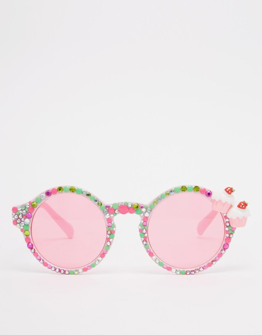 b7b4bd5392 Image 2 of Spangled Strawberry Cupcake Yum Yum Sunglasses