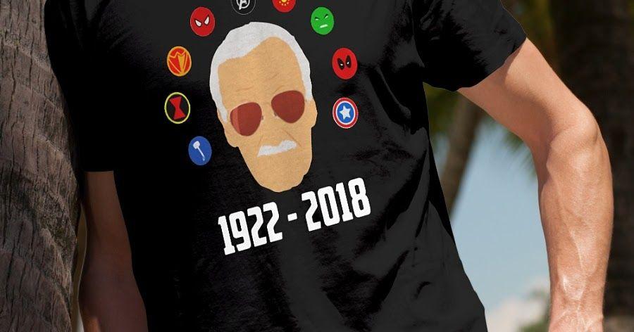 Rip Stan Lee 1922 2018 bye my hero's shirt