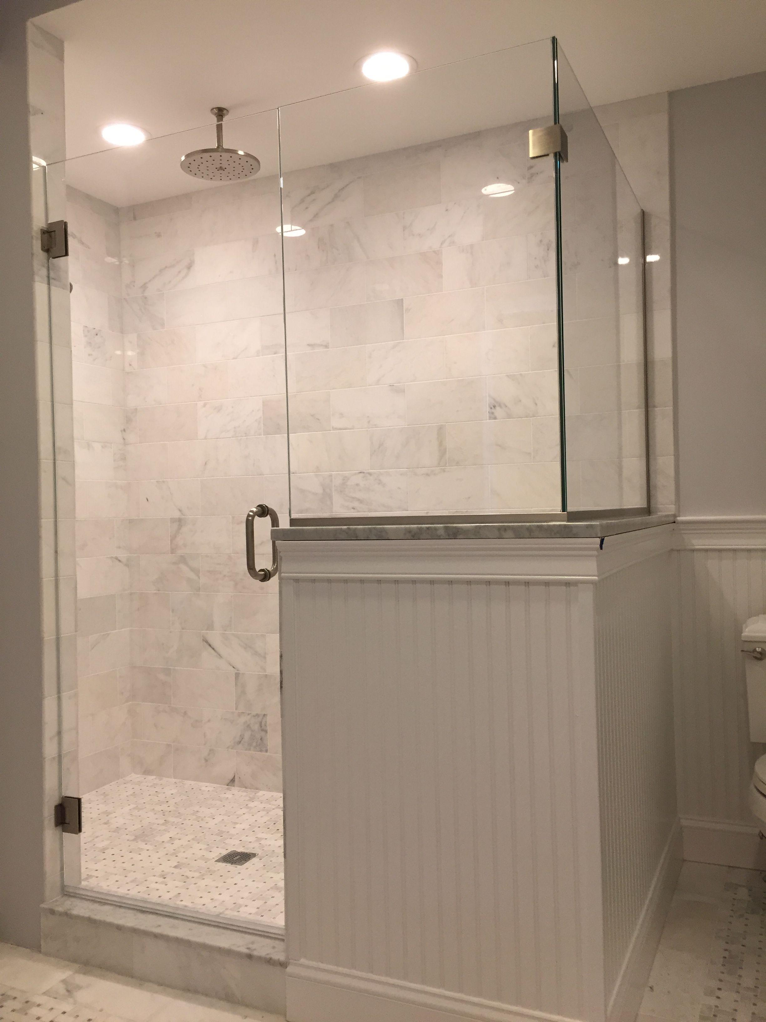 Image Result For Victorian Shower With Half Wall And Glass Shower Doors Half Wall Shower Glass Shower Doors Frameless
