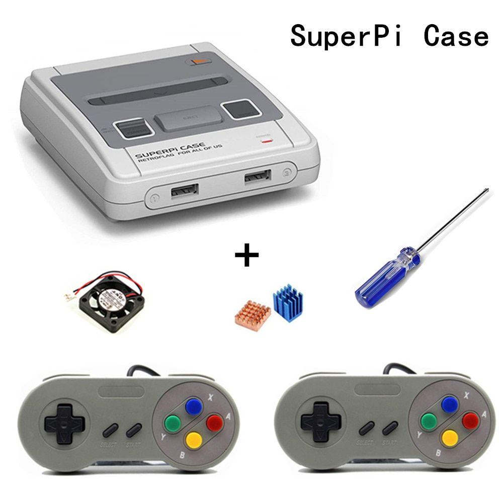 Raspberry Pi 3 Retroflag SUPERPi NESPi Case Gaming kit with USB Port Gamepad
