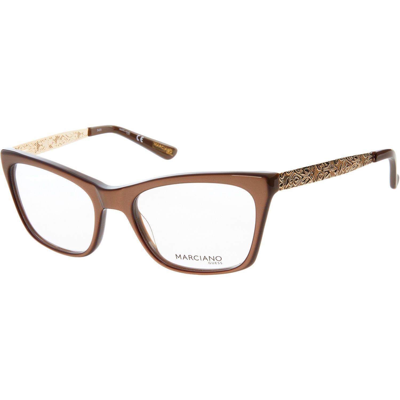 Brown & Gold Metallic Optical Frames - Optical Frames - Accessories ...