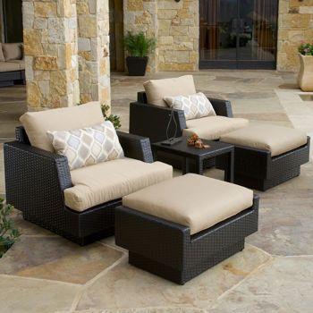 Portofino Comfort 5 Piece Club Chair Set In Espresso Via Costco At 1 499 Includes