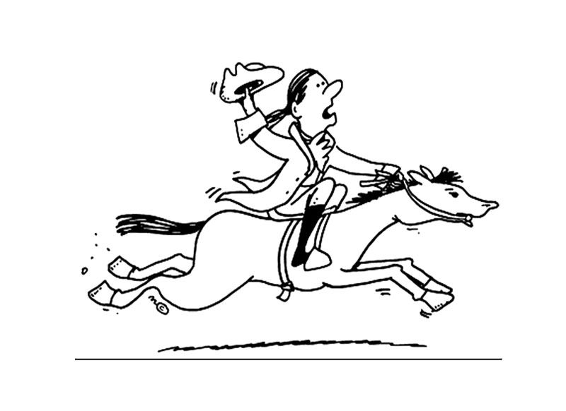 Cartoon Paul Revere Coloring Page For Kids | Kids Coloring Pages ...
