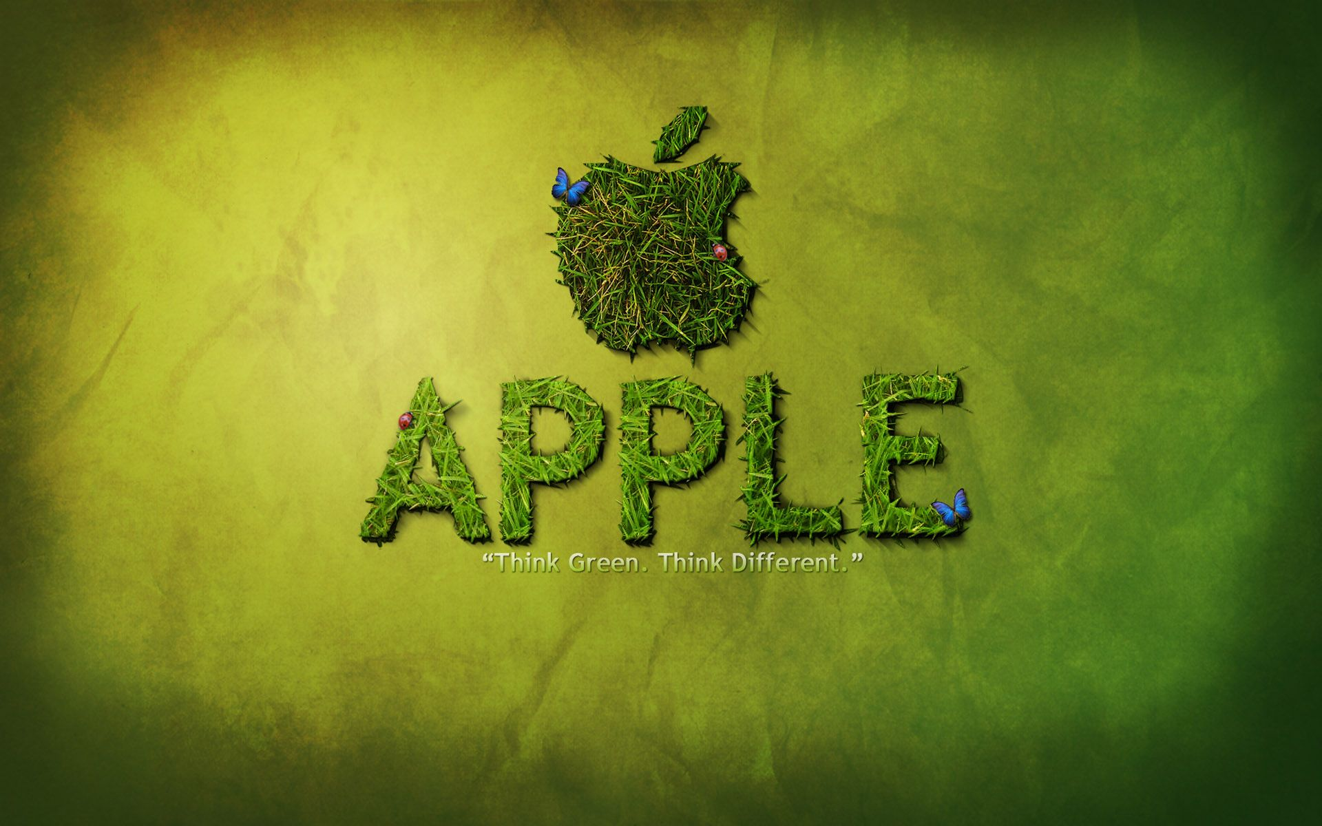 apple logo think green desktop wallpaper