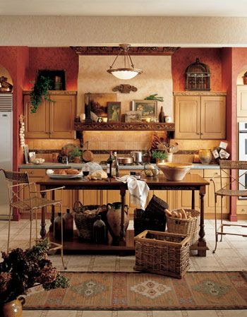 Lovely Kitchen Decorating Ideas On Tuscan Style Kitchen Decorating Ideas Columbus  Interior Improvement Love The Color!
