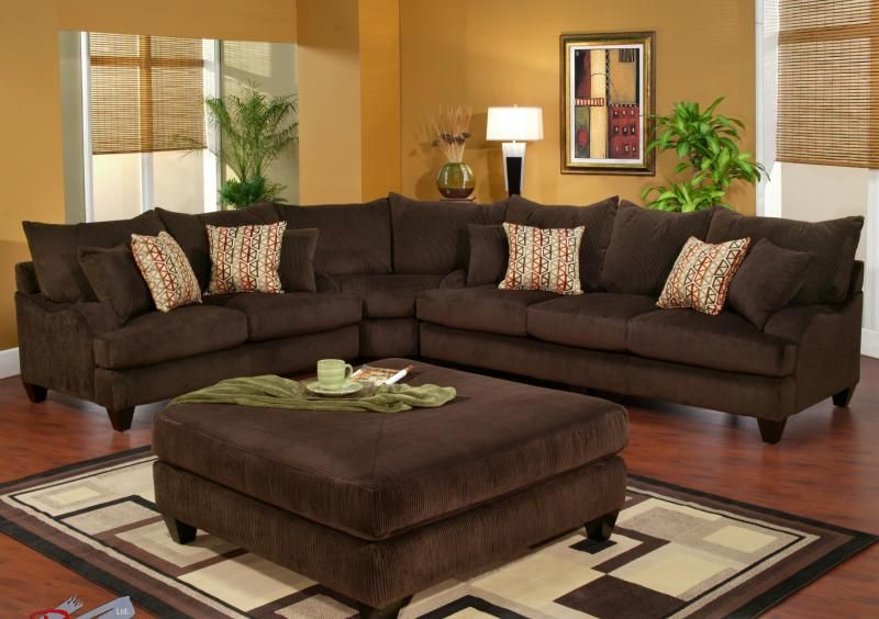 This is Robert Michaelu0027s Long Street sectional in a corduroy brown. This is deep seated : chocolate corduroy sectional - Sectionals, Sofas & Couches