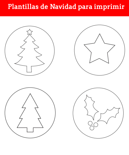 Plantillas de Navidad para imprimir | Navidad, Manualidades and Merry