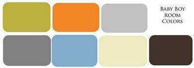 baby boy color schemes