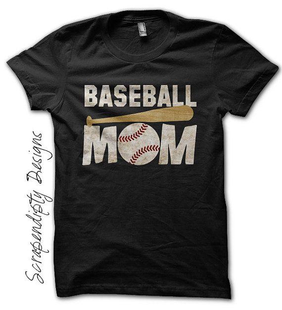 378a7da9 Baseball Mom Shirt - Custom Baseball Shirt / Womens Customized Tshirt /  Sports Mom Clothing / Baseball Bat Tee / Black Tball Mom TShirt by  Scrapendipitees