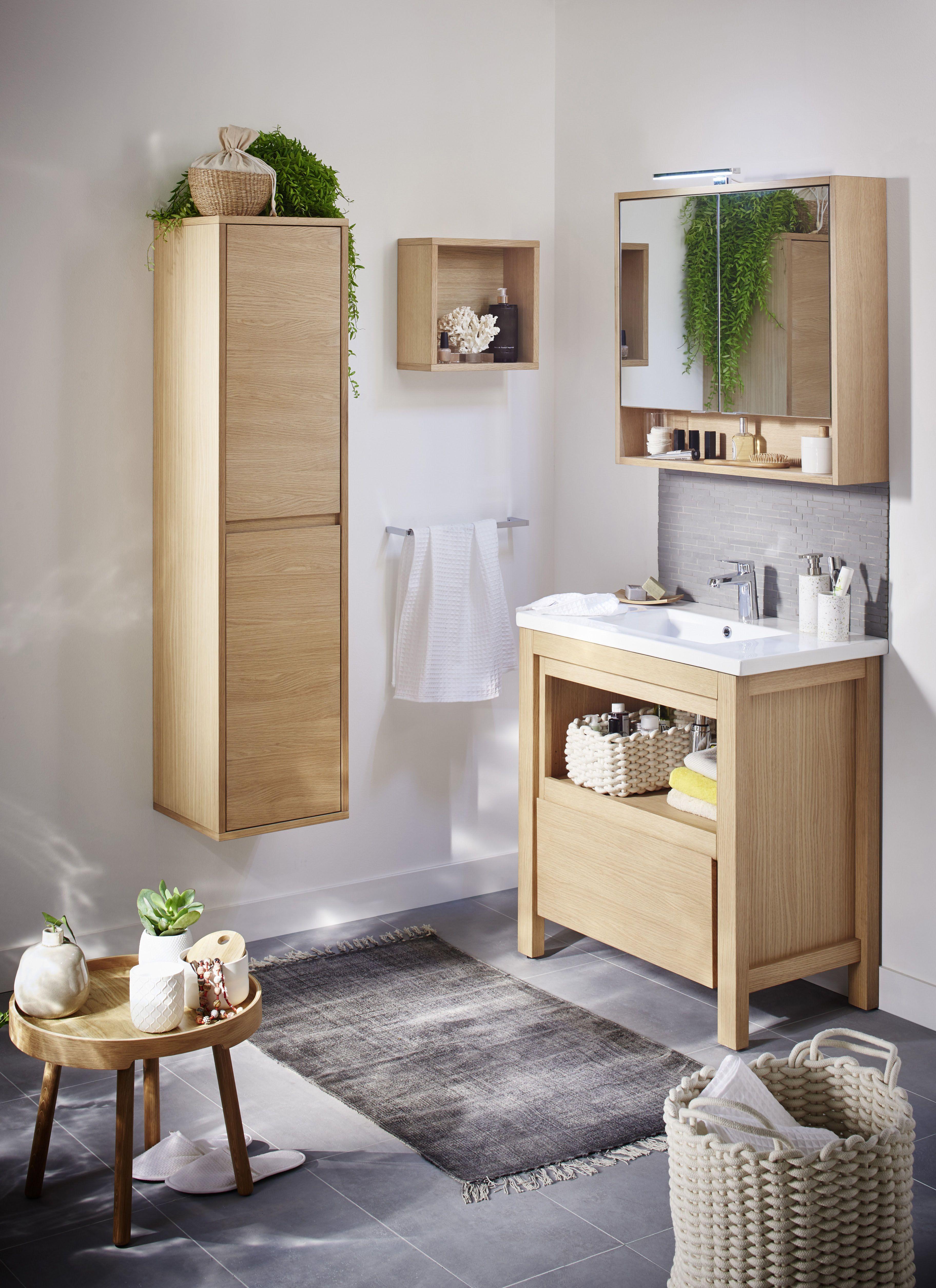 "Salle de bains ""Lima"" Lapeyre  Petite salle de bain, Meuble salle"