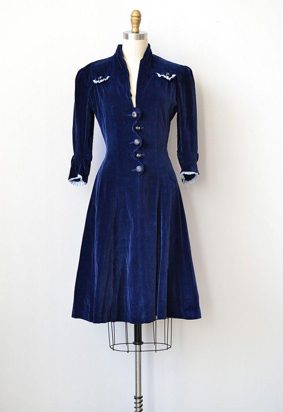 Join. velvet vintage dress nothing tell