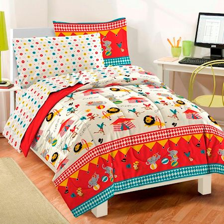 Circus Animals Boys Girls Bedding Twin Full Comforter Set Bed In A