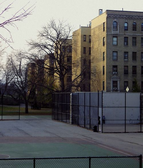 Looking Across A Playground In Washington Heights