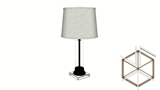 Clay Alder Crystal Column Table Lamp With White Shade 3d Warehouse In 2020 Lamp Table Lamp Shades