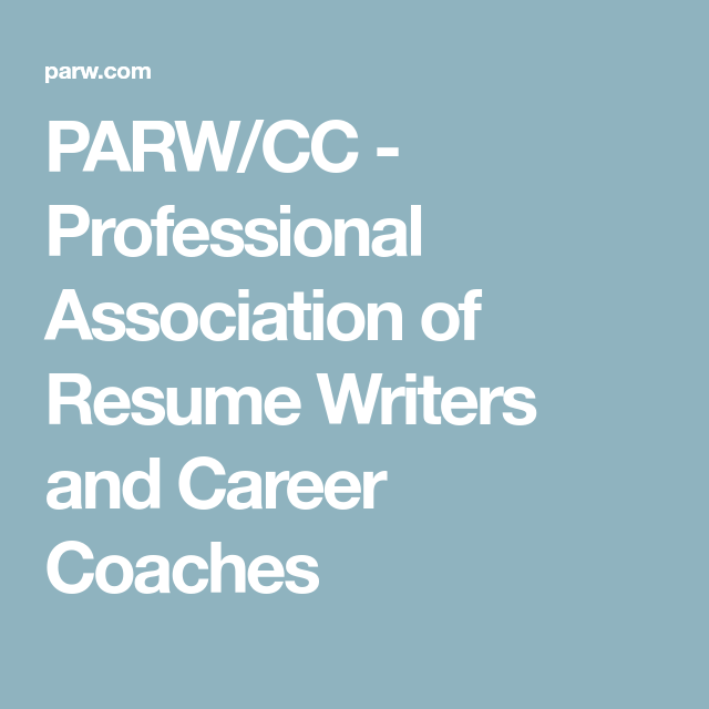 parw cc professional association of resume writers and career