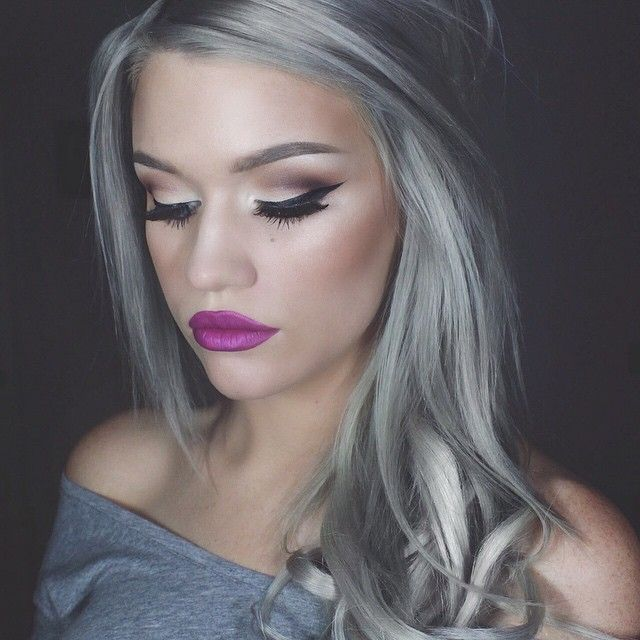 Grey hair trend spring summer 2016 Beauty Liquid lipstick and