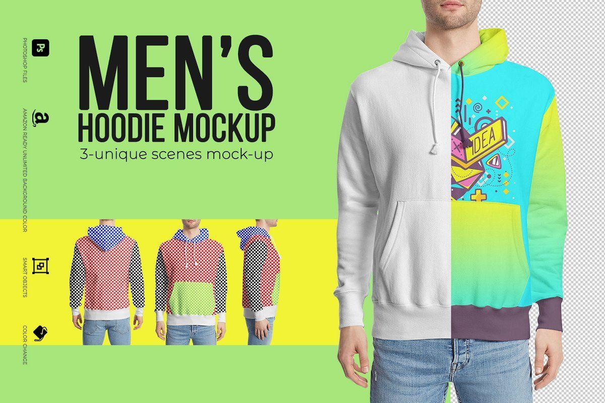 Download Men S Hoodie Mockup Hoodie Mockup Clothing Mockup Hoodies Men