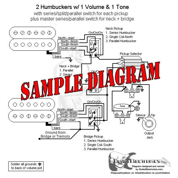 guitarelectronics com custom drawn guitar wiring diagrams git r rh pinterest com Humbucker Coil Tap Wiring-Diagram Epiphone Special 2 Wiring Diagram