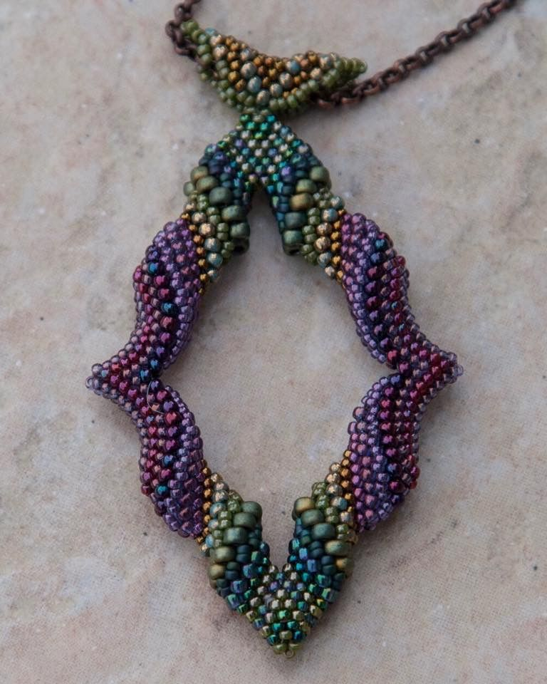 Cellini Marquis Pendant Tutorial Available From Gwen Fisher Bead