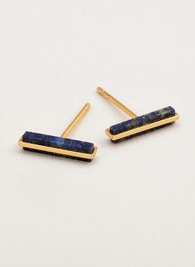 lapis stud bar earrings.  gorjana