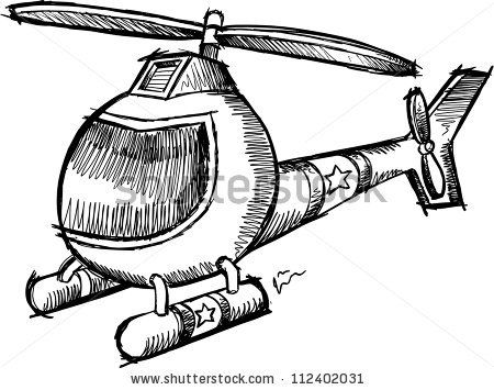 Cute Sketch Doodle Cartoon Helicopter Vector Illustration 112402031 Shutterstock Cute Sketches Doodle Cartoon Helicopter
