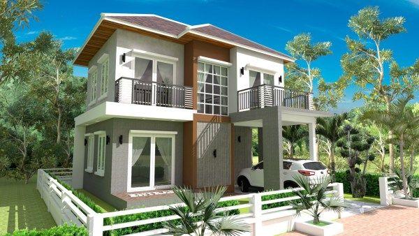 Home Plan 8x8m with 3 Bedrooms   Maison, Plans de maison de rêve, Plan maison