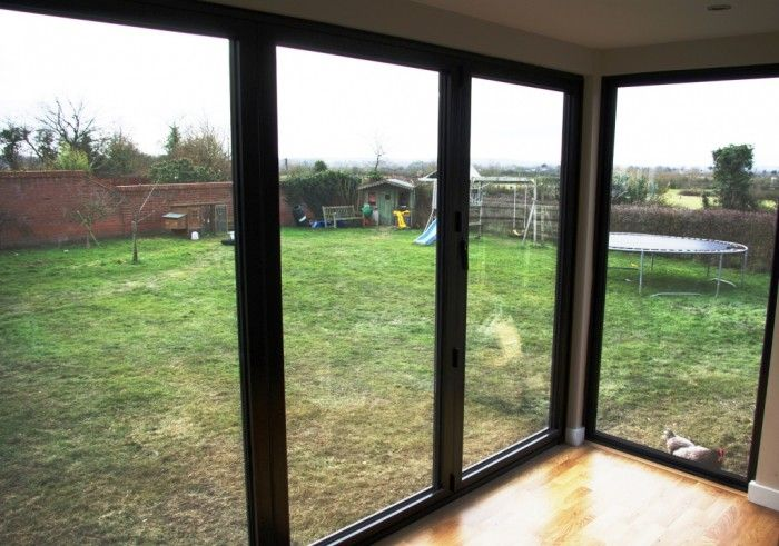 3m Bi Folds With Full Length Corner Window Outside Room Contemporary Garden Rooms House Exterior