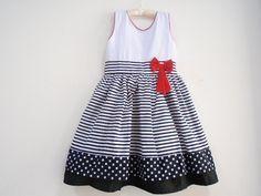 vestido infantil tipo marinheiro - Pesquisa Google