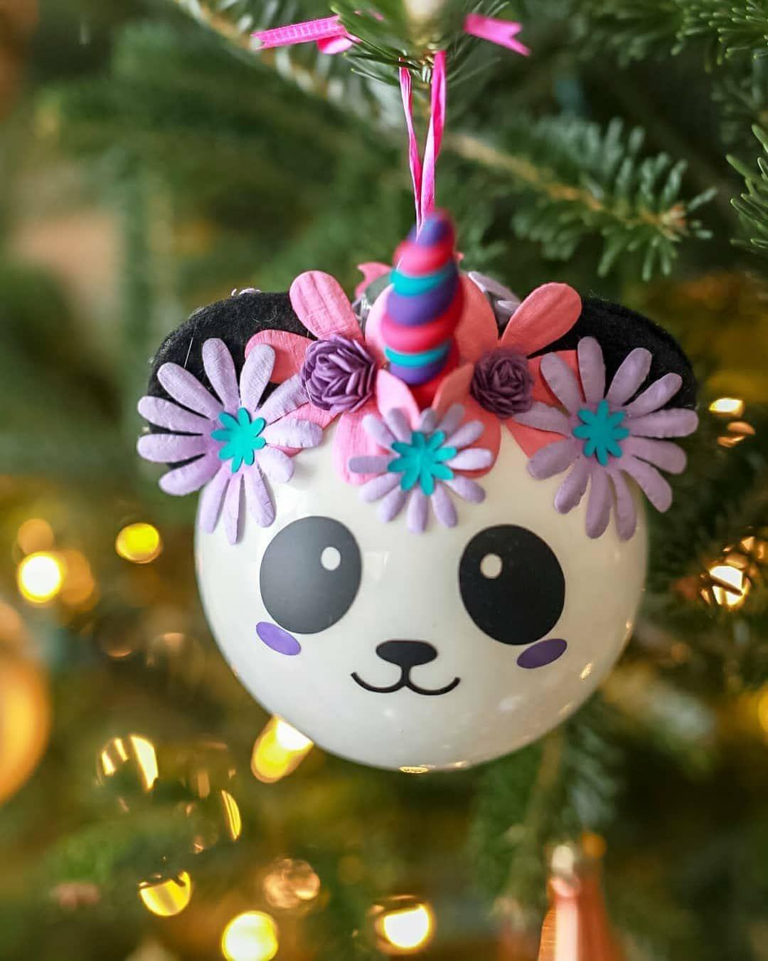 Diy Pandacorn Ornaments Diy Christmas Ornaments Kids Christmas Ornament Kids Christmas Ornaments Diy Christmas Ornaments Rustic Diy Christmas Ornaments Easy