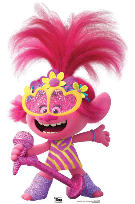 Cool Cardboard Cutout Of Cute Princess Poppy From Trolls World Tour Great For Bedroom Deco Halloween Games For Kids Fun Halloween Party Games Kids Party Games