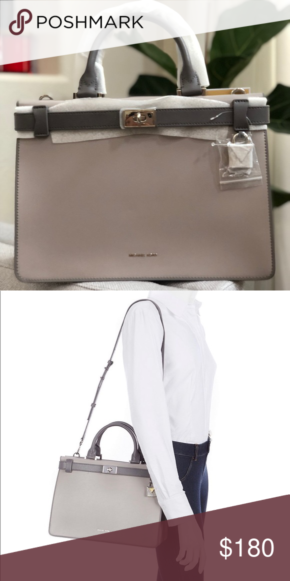 2aa53d19579a Michael Kors Tatiana Medium Satchel MK Tatiana Medium Satchel MSRP: $348.00  Color: Gray Turn