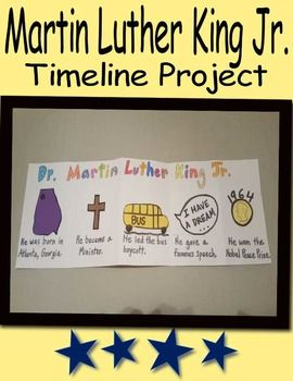 Martin Luther King Jr Timeline Art Projects For First Grade