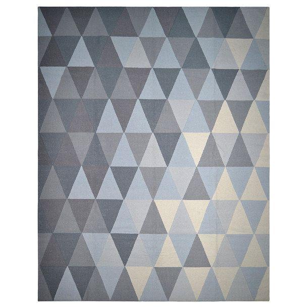 Triangle Rug 5x8 Gray