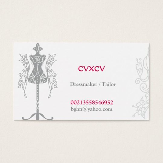 Salon Elegant De Mariage Couturiere Tailleur Carte Visite Standard