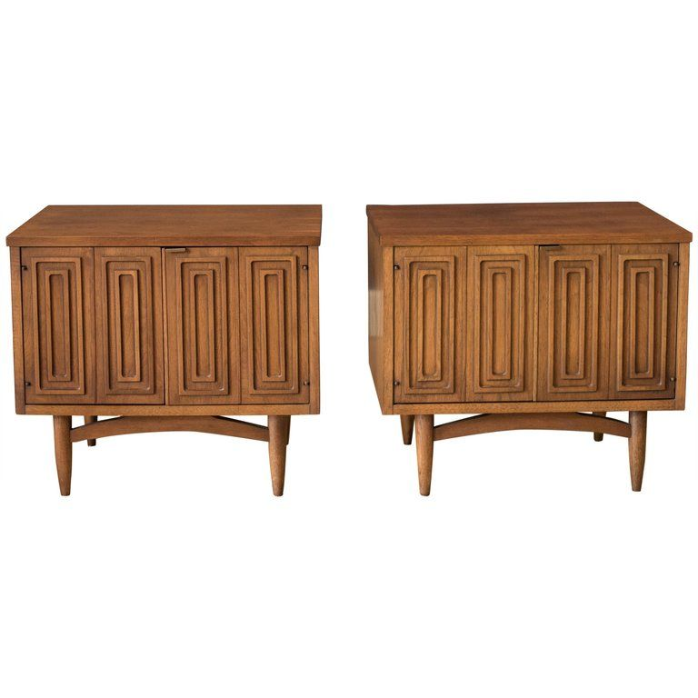 Best Pair Of Mid Century Broyhill Sculptra Nightstands From A 400 x 300