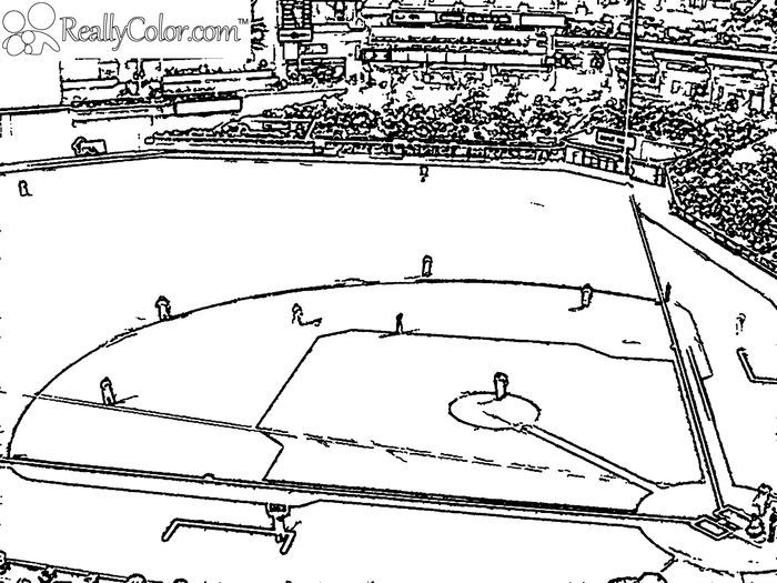 Baseball Field Coloring Pages Baseball Coloring Pages Sports Coloring Pages Football Coloring Pages